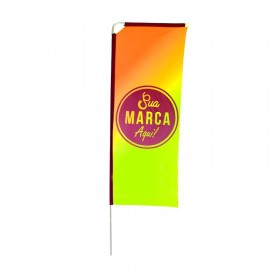 Eco flag Box 200 x 70 cm